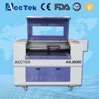 High accuracy 6090 laser engraving machine/mini cnc co2 laser cutting machine with CE certification