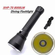 HobbyLane XHP70 LED Yellow Light 4000 Lumens Diving Flashlight 26650 Torch Underwater 100M Xhp70.2 Spearfishing Led Lamp