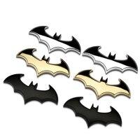 Halloween Gift Metal 3D 3M Batman Sticker Superhero Chrome Metal Car Emblem Badge Auto Bat Decals
