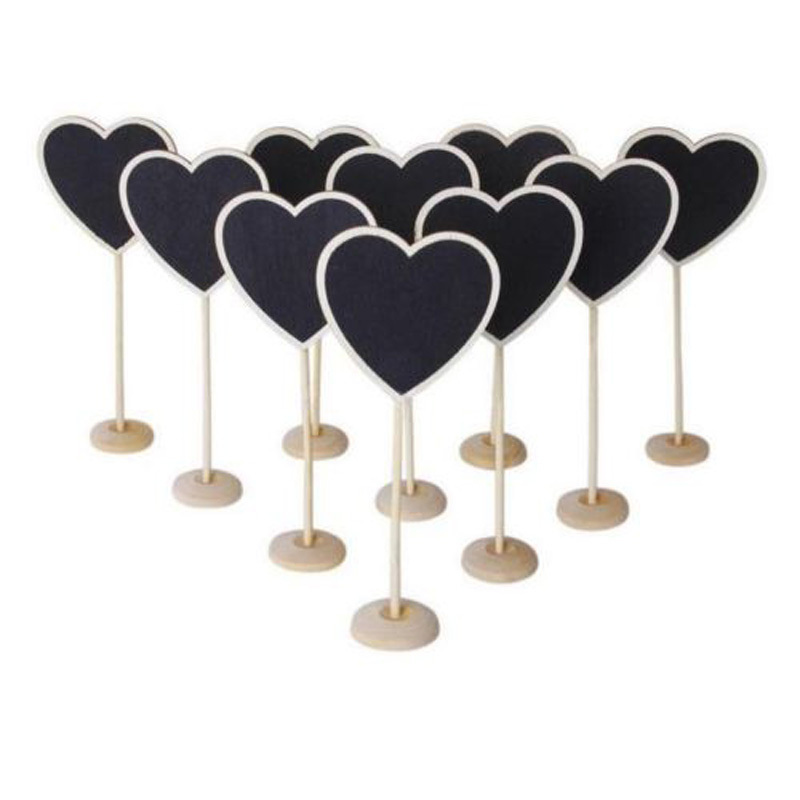 10pcs Mini Blackboard Chalkboard with Stand Place Card Wedding Table Number Sign
