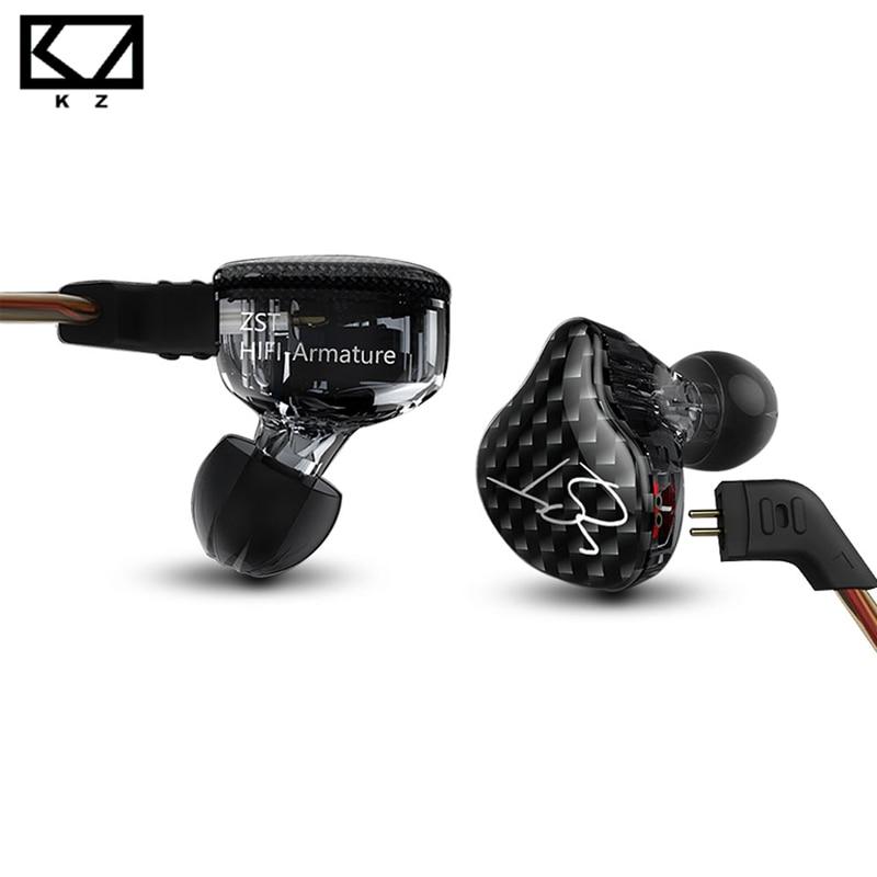 Eredeti vadonatúj KZ ZST armatúra kettős meghajtó fülhallgató - Hordozható audió és videó