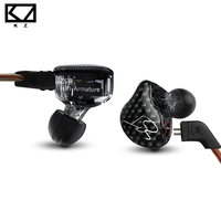 Original KZ ZST Armature Dual Driver Earphone Detachable Cable In Ear Audio Monitors Noise Isolating HiFi