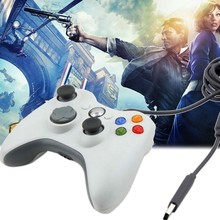 100% New Wired USB Game Controller Joypad for Xbox 360 PC Gamepad With Retail packaging Free Shipping