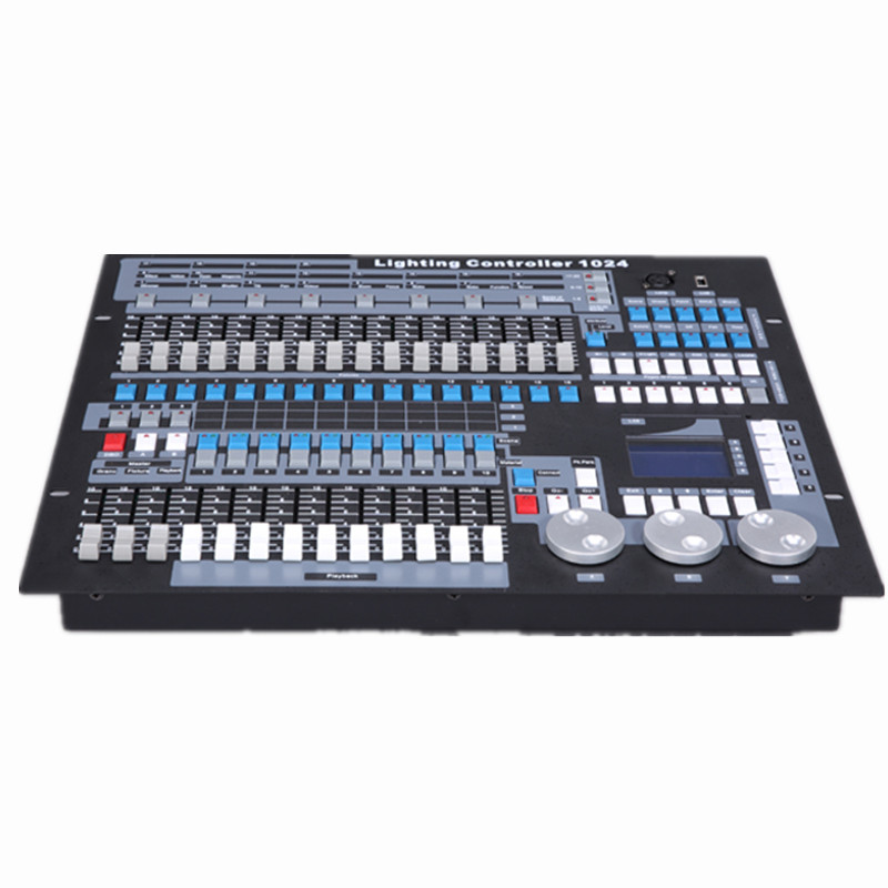 Dj equipment King kong 1024 dmx controller moving head lighting console dmx512 computer stage lights controller with flight case
