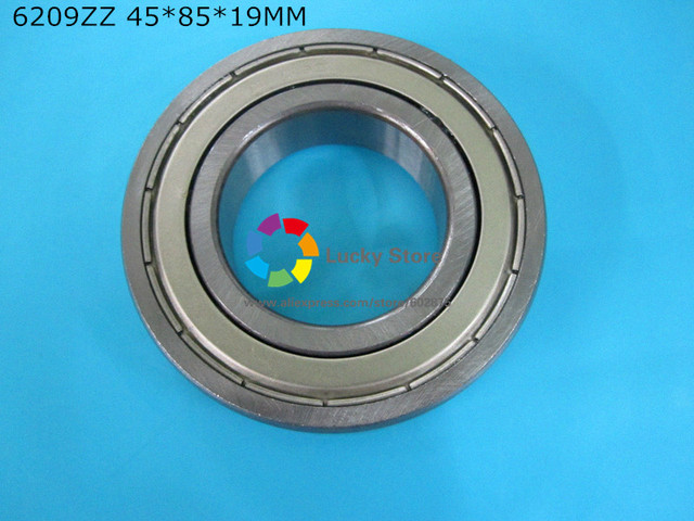 6209ZZ 1 Piece bearing metal sealing bearings free shipping 6209 6209Z 6209ZZ 45*85*19mm CHROME STEEL DEEP GROOVE BEARING