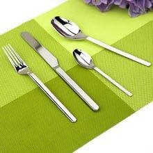 Besteck Edelstahl Geschirr Set 24 Stücke Geschirr Küche Silber Westlichen Klassische Messer Gabel Teelöffel Esstisch