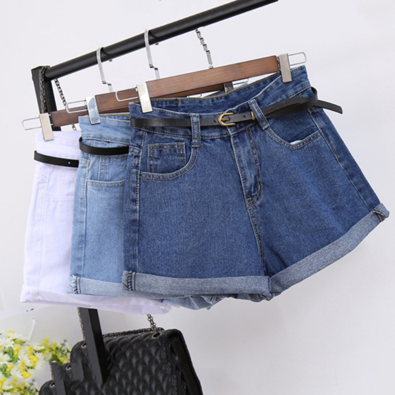 ETOSELL Retro High Waisted Denim   Shorts   For Women New Arrival Rolled Denim Jeans   Shorts   With Pockets Summer Loose Slim   Shorts