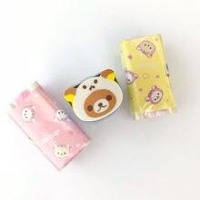 Gomme effaçable ours 1x Kawaii, Mini fournitures scolaires, papeterie pour élèves, écriture, dessin, Correction, caoutchouc, cadeau pour enfants