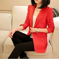 Женский пиджак Большой размер 3XL новый 2016 пиджак с длинными рукавами тонкий свободного покроя пиджак женщин офис дамы Terninho Feminino
