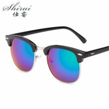 Half Metal High Quality Sunglasses Men Women Brand Designer Glasses Mirror Sun Glasses Fashion Gafas Oculos De Sol UV400 #SR109