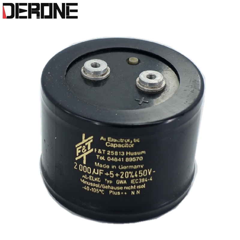 1piece f t 2000uf 450v capacitor for diy power amplifier made in germany second hand free. Black Bedroom Furniture Sets. Home Design Ideas