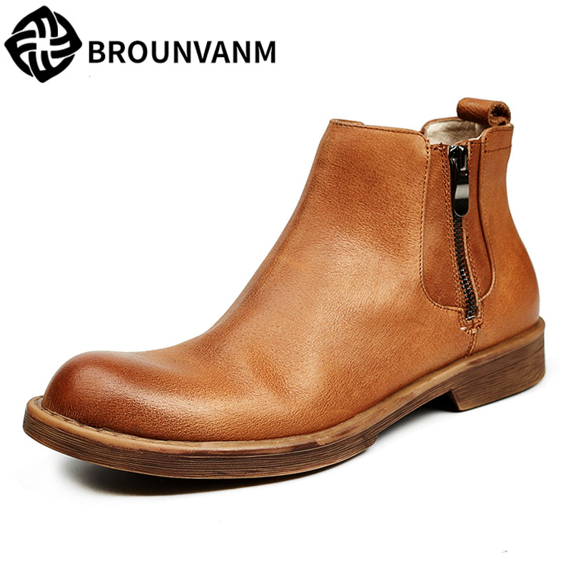 new autumn winter British retro men shoes Martin men's high casual shoes vintage Chelsea boots breathable fashion boots 2017 new autumn winter british retro zipper leather shoes breathable sneaker fashion boots men casual shoes handmade