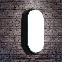 15 Вт 20 Вт современный светодиодный настенный светильник влагостойкий передний крыльцо потолочный светильник поверхностного монтажа Овальный для наружного сада ванной светильник ing