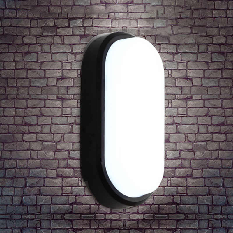 15W 20W Modern LED Wall Lamps Moistureproof Porch Light Ceiling Lamp Surface mounted Oval for Outdoor Garden Bathroom lighting