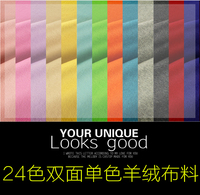 Multicolor Autumn And Winter High Top Double Thick Solid Color Cashmere Wool Coat With Hair Cloth