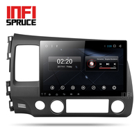 Infispruce 2G android car dvd gps player for honda civic 2006-2011 with radio gps navigation support mirror link steering wheel