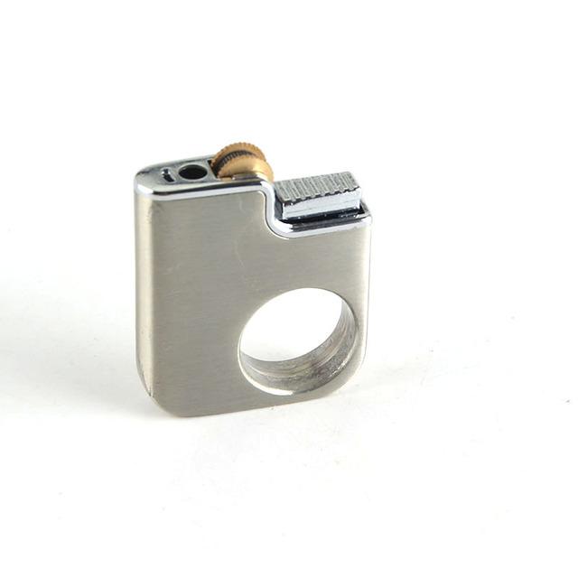 Cigarette Accessories Butane Gas Lighter Ring Rotation Metal Cigarette Lighters
