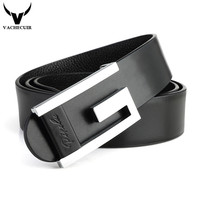 2014 New Brand Top Genuine Leather Men S Thin Belt Fashion Style Smooth Buckle Decorative Belts
