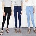2016 Designer Marca AA Calça Jeans Mulheres Slim Fit Jeans Skinny De Cintura Alta Calças de Fitness Feminino Calças Jeans Preto
