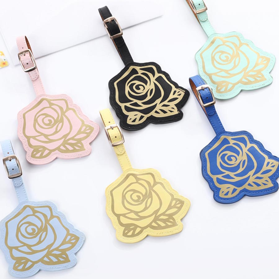 Zoukane Personality Suitcase Rose Luggage Tag Label Bag Pendant Handbag Portable Travel Accessories Name ID Address Tags LT26A