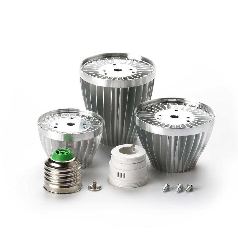 LED Bulb 9W 12W 18W Lamp Accessories E27 B22 E14 DIY Aluminum Shell Kit GU10 3W 7W LED Ball Bulb Light Parts For Lamp Improved