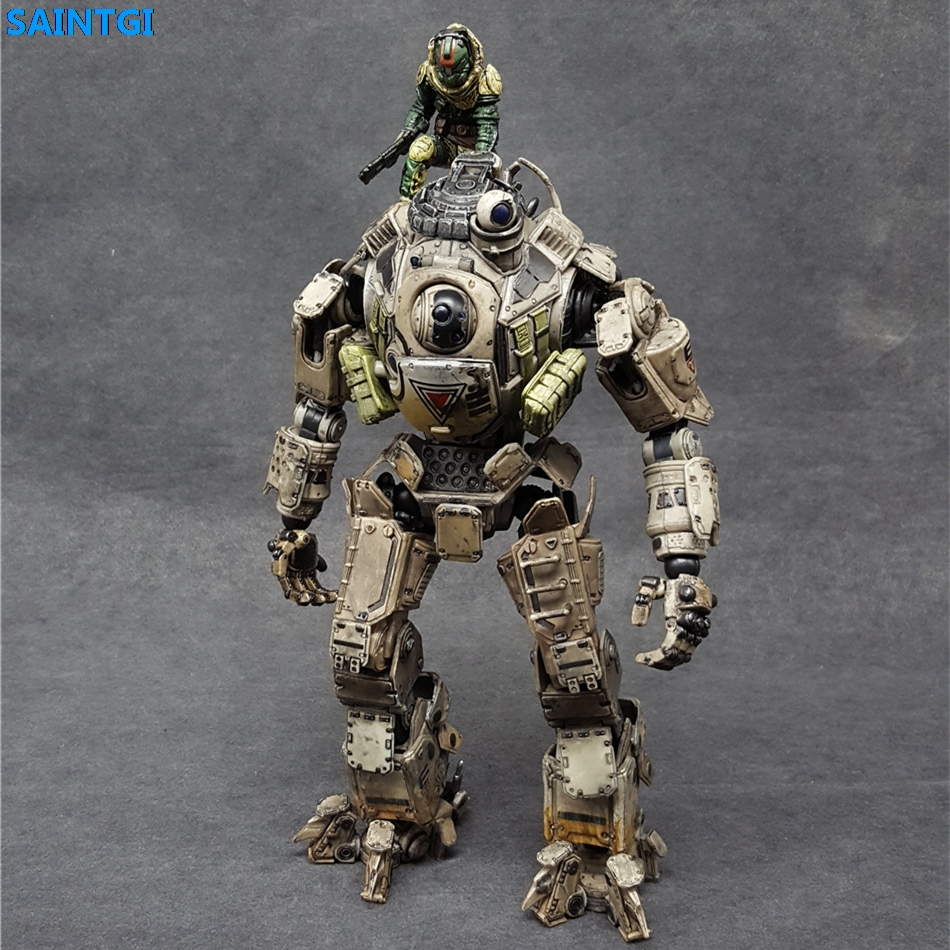 SAINTGI Titanfall Atlas PVC 26CM Action Figure Collection Model game figure Dolls Kids Toys Free Shipping Play Arts Kai original box sonic the hedgehog vivid nendoroid series pvc action figure collection pvc model children kids toys free shipping