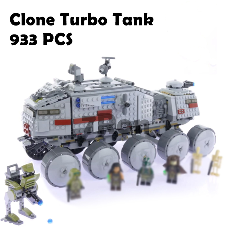 933Pcs Star Wars Clone Turbo Tank 75151 Building Blocks Compatible with lego 75151 STAR WARS Toy 05031 Boys Toys Gift ...