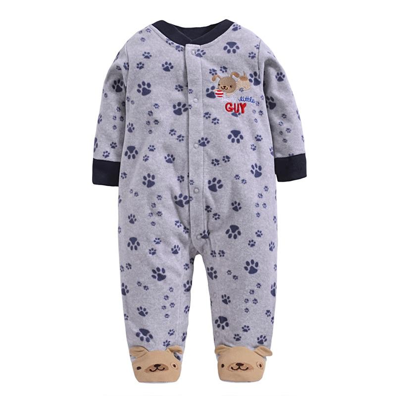 קמעונאות בייבי Rompers פליס גוף חליפות קופץ שעועית בגדי תינוק התינוק כותנה כותנה תינוק חתיכות 1pcs / lot