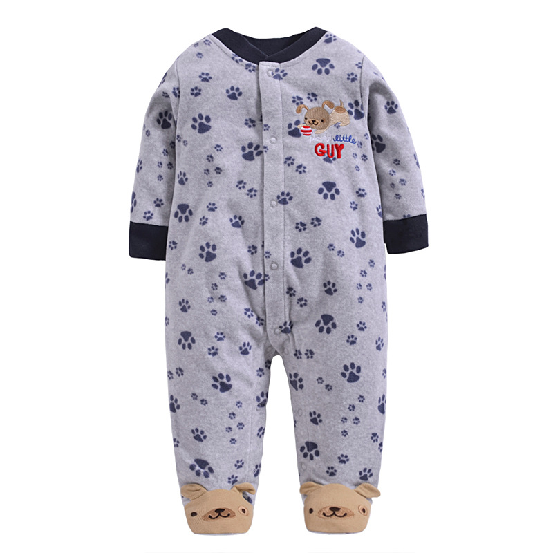 Retail Baby   Rompers   fleece Body suits Jumping Beans baby clothes Infant Shortall cotton Baby One-pieces 1PCS/LOT