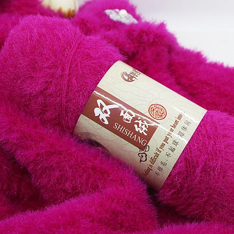 300g/Lot High Quality Baby Hand Knitting Mink Yarn China Crochet Yarns Luxury Fur Sweater Scarf Eco Friendly Dyed Yarn  - AliExpress