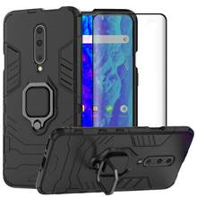 Case Voor OnePlus 7 Pro Cover Armor Shockproof Kickstand Magnetische Ring Houder Hybrid Heavy Duty Cover Voor OnePlus 6T 1 + 7 Pro Case(China)