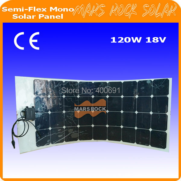 120W 18V Semi-flexible mono solar panel waterproof flexible solar panel light solar panel for special dsign sp 36 120w 12v semi flexible monocrystalline solar panel waterproof high conversion efficiency for rv boat car 1 5m cable