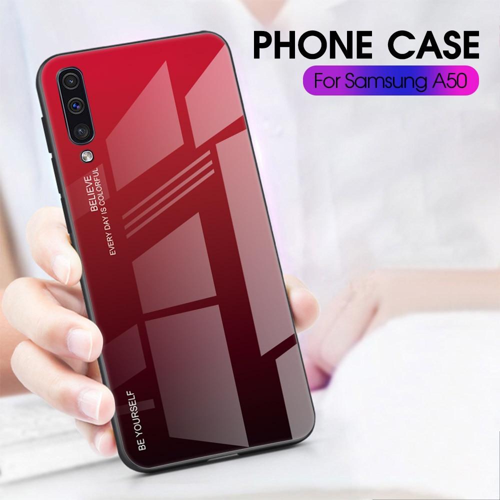 HTB1nO7AdwaH3KVjSZFjq6AFWpXab Gradient Glass Case For Samsung A30S A50S A30 A50 S A 30S 50S A 30 50 S Case Protective Shell A10 A20 A70 A50 A60 A40 A20e Case