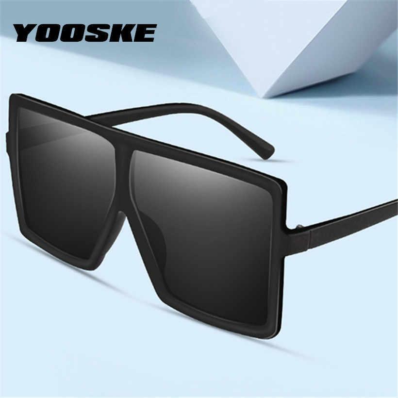39e8bfa03ecc YOOSKE Vintage Oversized Sunglasses Women Men Retro 90s Sun Glasses Female  Male Big Frame Black Eyewear