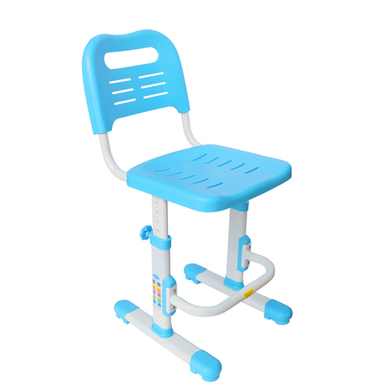 Lifted Kids Chair Non slipable Study Stool Children's Furniture with Footrest Adjustable Kids Writing Chair Corrective Posture