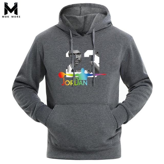 9b88d131b57e Brand 2018 Men Cotton Hoodies Sweatshirt Solid Color Print Trend Comfortable  Pullover Coat Warm Clothes Mens 23 Printing Hoodie
