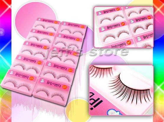 10 PAIRS/Set Mixed Style Black False Eyelashes Extension Eye Lashes fashion fake eyelash