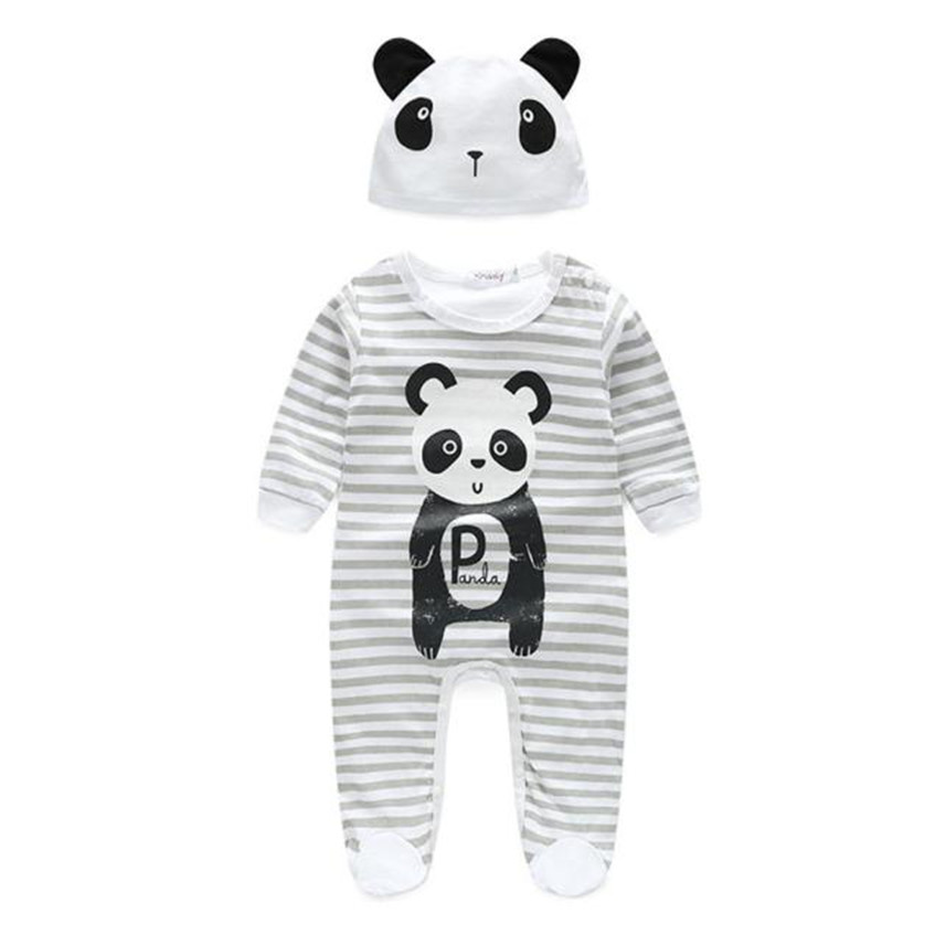 Newborn Baby Rompers Baby Girls Clothes Cute Cartoon Animal Newborn Jumpsuits Ropa Bebes Baby Boy Clothing Set Romper+Hat Jan20 0 12m autumn cotton baby rompers cute cartoon clothing set for baby boys infant girls clothes jumpsuits foot coveralls romper
