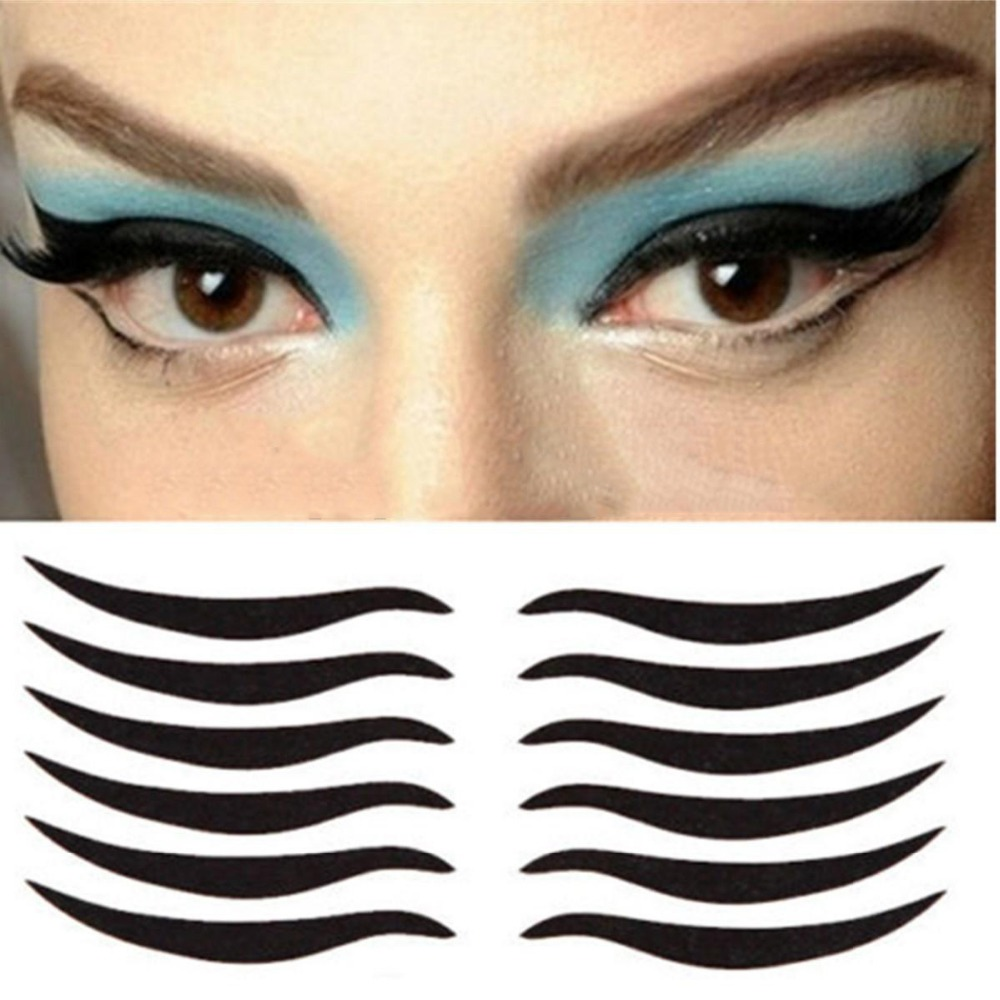 80 Stickers Sexy Cat Style Eyes Sticker Black Eyeliner & Double Eyelid Tape Smoky Tattoo eye makeup SP-1003