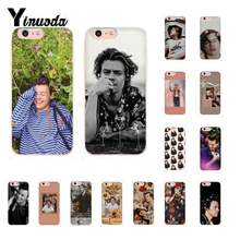 Yinuoda popular estético menino harry estilos caixa do telefone para o iphone 6 s mais 7 mais 8 8 mais x xs max 5 5S xr 10 11 11pro 11promax(China)