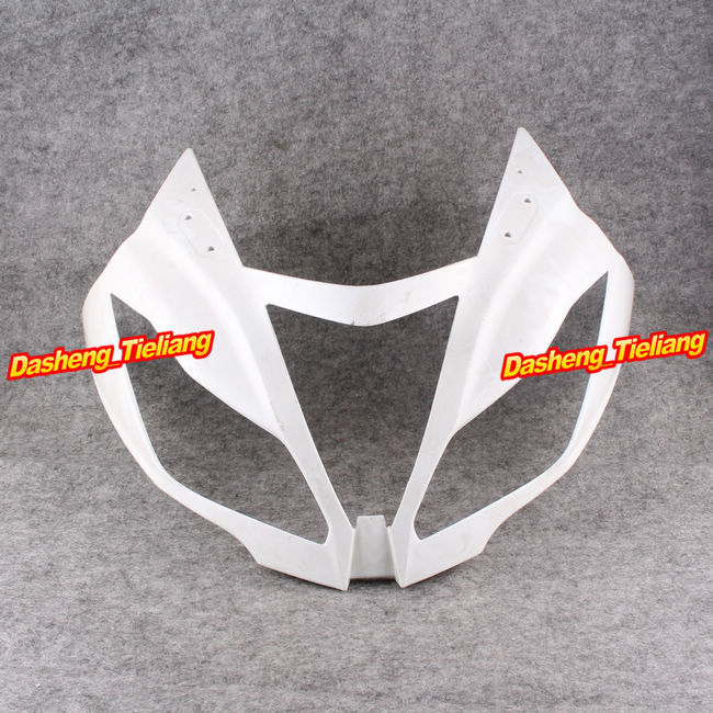 GZYF Upper Front Cover Cowl Nose Fairing for Kawasaki Ninja ZX6R 2012 2013, Injection Mold ABS Plastic, Unpainted motorcycle abs injection fairings for upper front head fairing cowl nose cowl for kawasaki z1000 2010 2013 unpainted