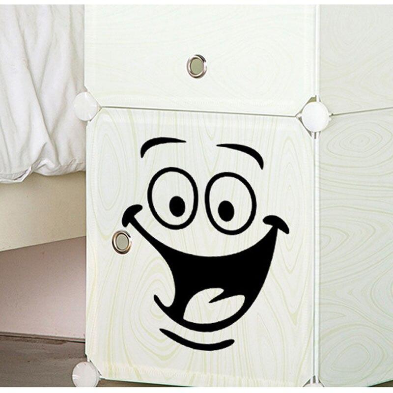 Улыбкой лицо Туалет наклейки сделай сам персонализированные украшения мебели на стены холодильник стиральная машина стикер Ванная комнат...