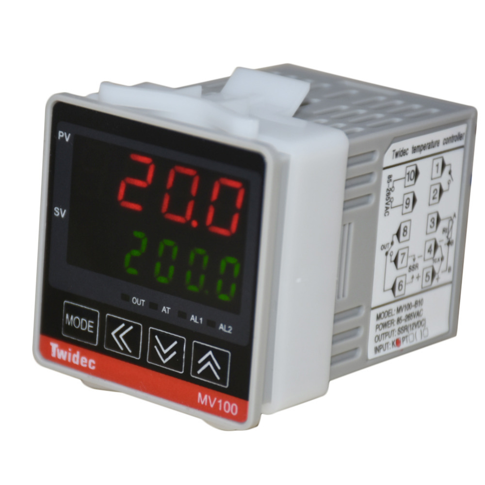 TWTADE / Mv100-B10  Digital Display PID Temperature Controller Thermostat AC 85V - 265V Output SSR Solid State Relay