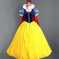 Women Fantasia Princess Snow White Halloween Cosplay Costume Carnival Disfraces Party Women Adult Dress