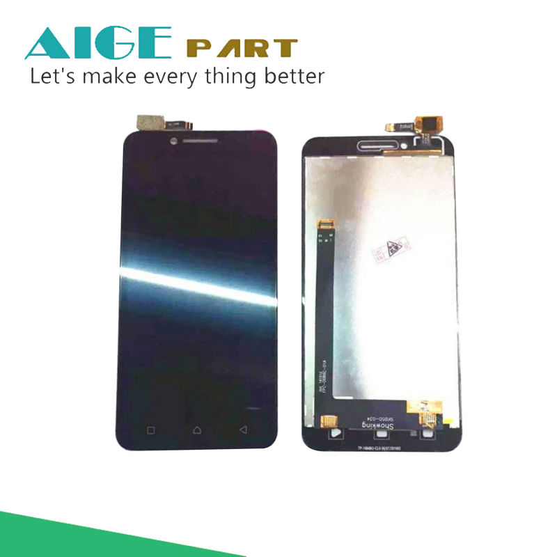 White/Black For Lenovo Vibe C A2020 LCD Display with Touch Screen Digitizer Assembly Smartphone Replacement vibe x2 lcd display touch screen panel with frame digitizer accessories for lenovo vibe x2 smartphone white free shipping track