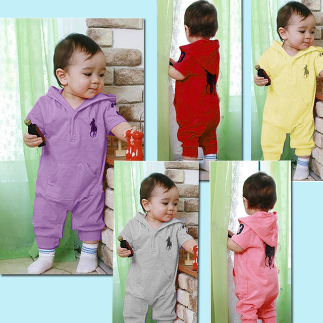 Free shipping,2013NEW,Retail,baby clothing summer Baby romper 5 colors baby One-Piece romper short sleeve jumpsuit