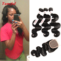Malaysian Body Wave 3 Bundles With Closure Hair Products With Closure 16 Inch Virgin Maylasian Hair With Closure