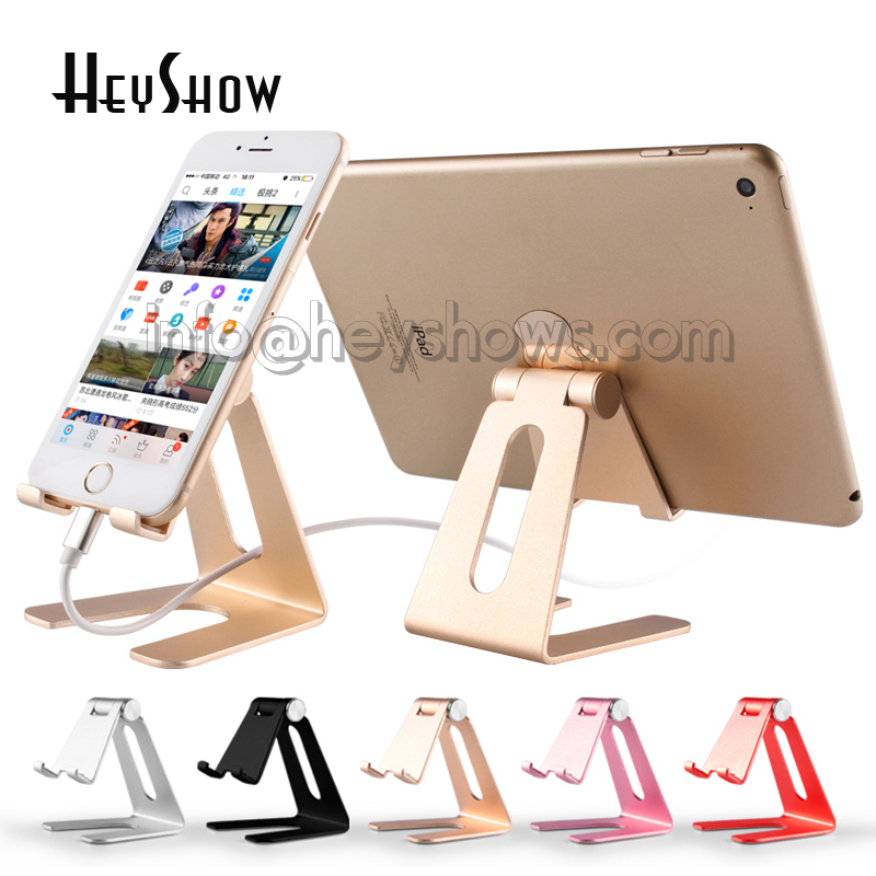 10x Universal Aluminum Alloy Phone Stand Holder Adjustable Cell Phone Stand Charging Dock Desktop Tablet Support For iphone 7 8 universal mobile phone cell phone holder stand black