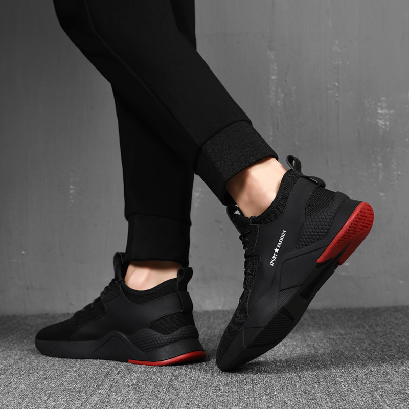 Spring New Net Shoe Man Breathable Cloth Shoes Tide Black Lattice Strap Shoe Back To Search Resultsshoes