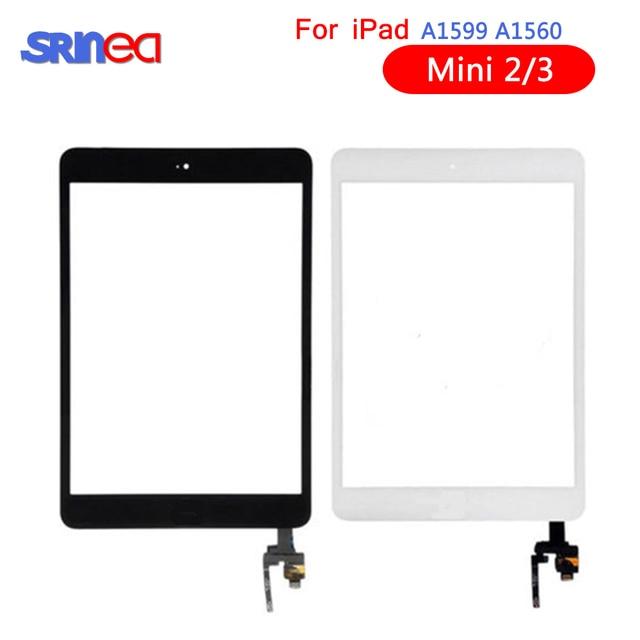 AAA تعمل باللمس لباد مصغرة 3 2 Mini3 Mini2 اللمس محول الأرقام زجاج الشاشة الرئيسية زر مع IC Conector ل باد البسيطة 3 2